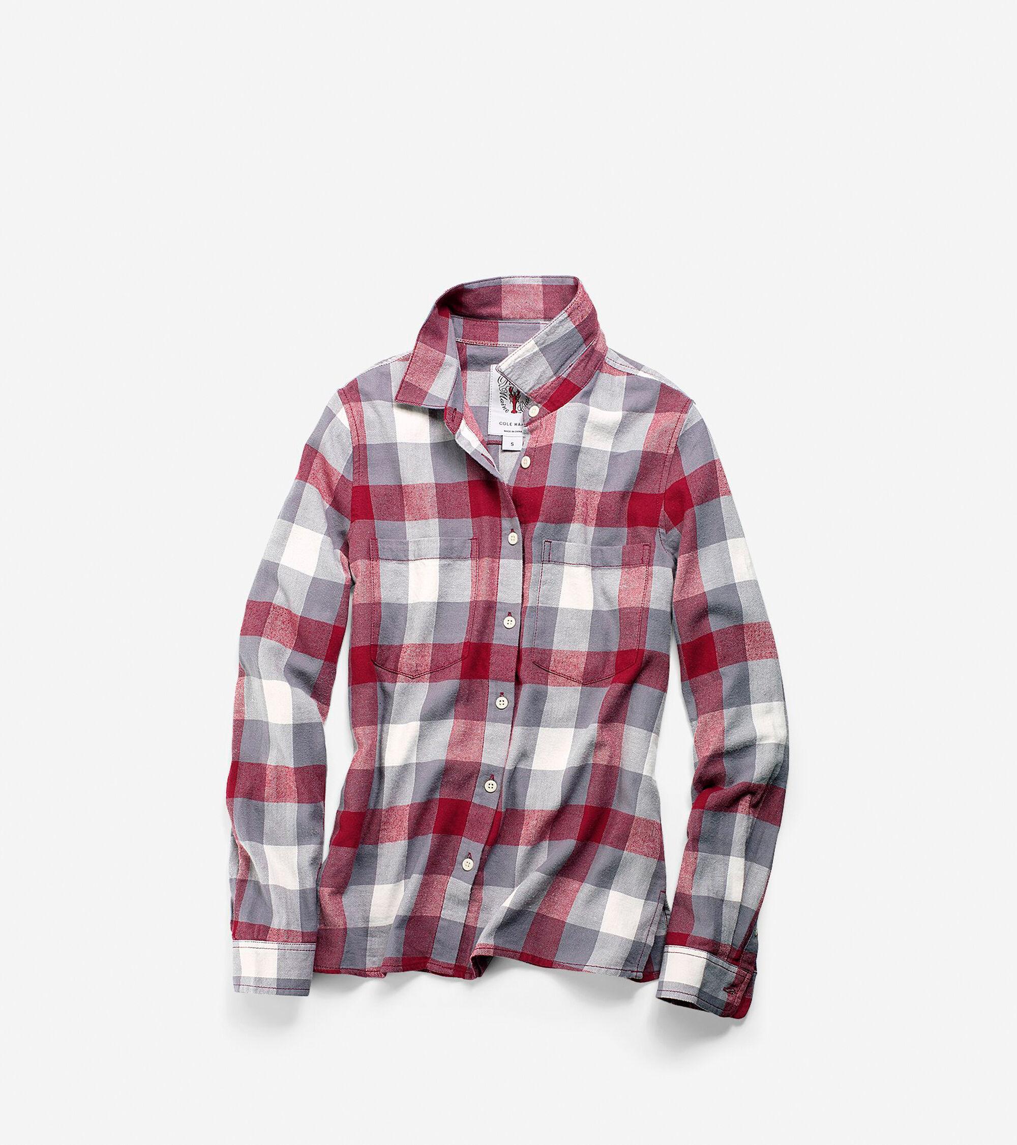 Apparel > Women's Pinch Long Sleeve Plaid Shirt