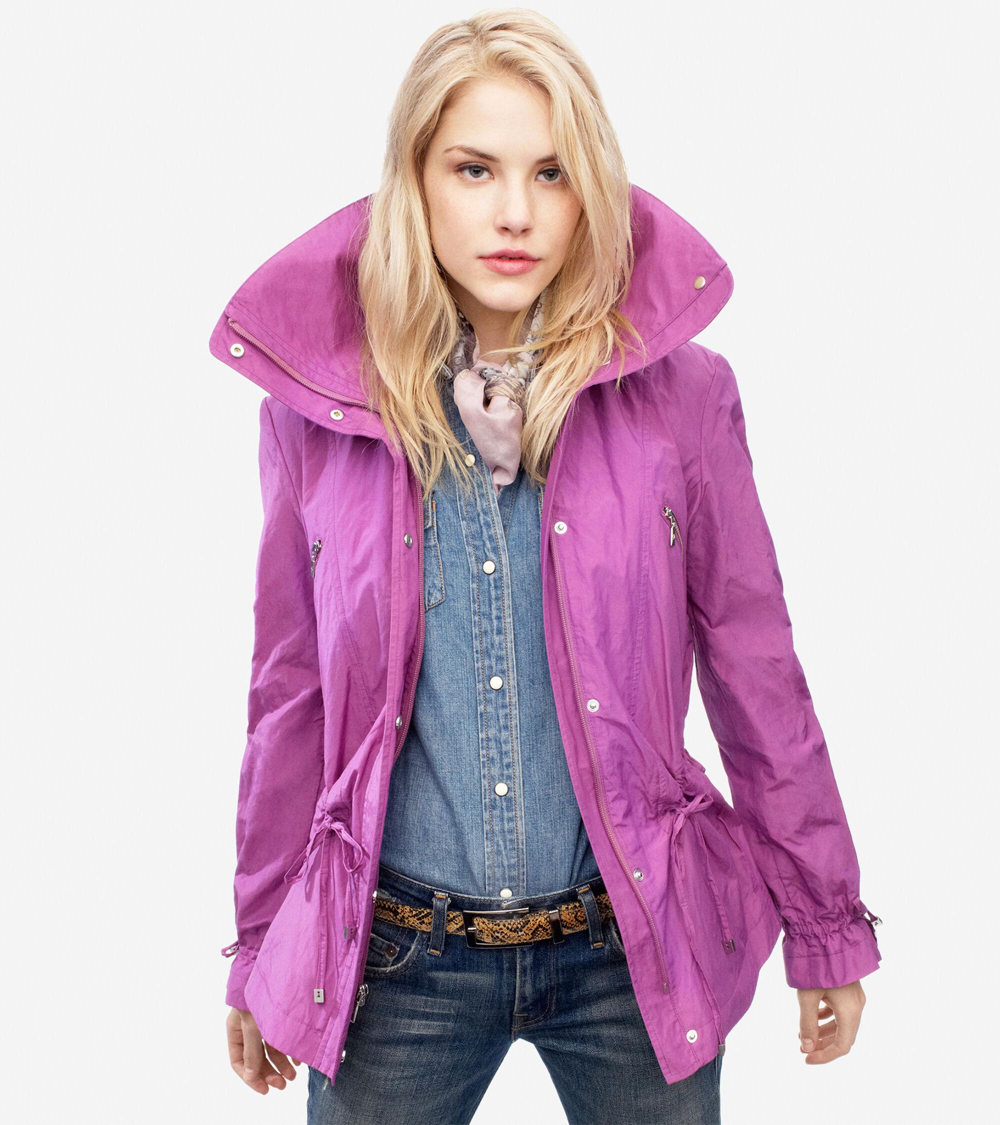 Outerwear > Metallic Rain Jacket