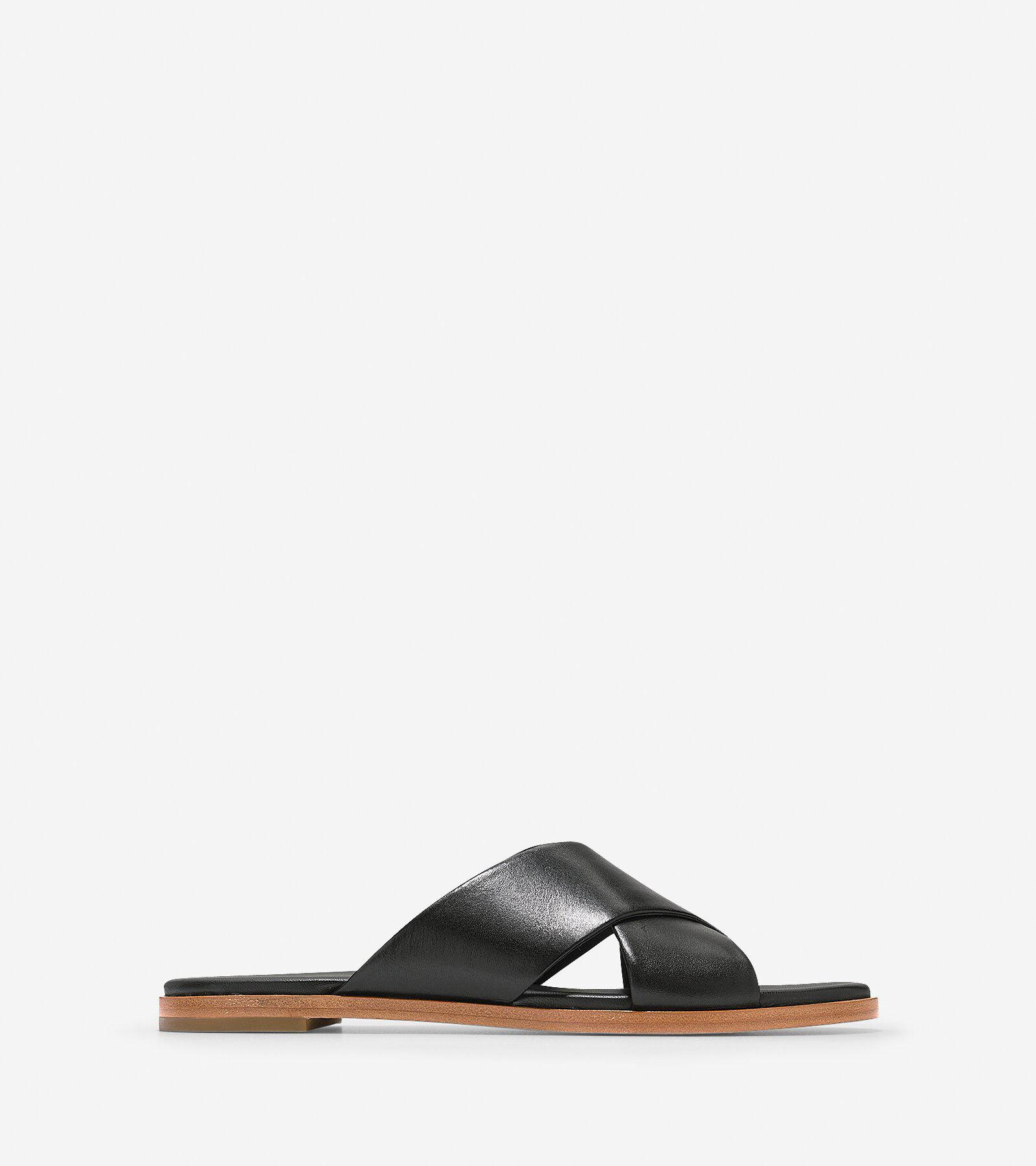 Cole Haan Women's Anica Criss Cross Sandal, Dark Grey, 10 B US