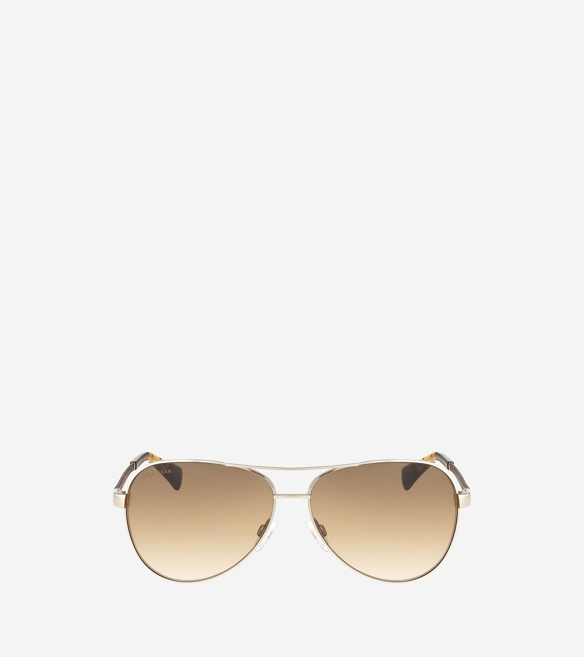 Sunglasses > Metal Aviator Sunglasses With Leather