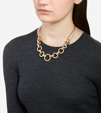 Put A Ring On It Chunky Statement Necklace