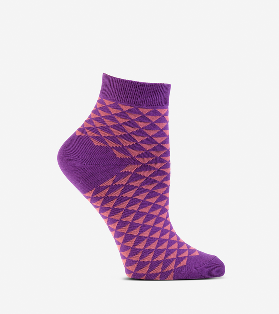 Mirrored Diamond Anklet Socks