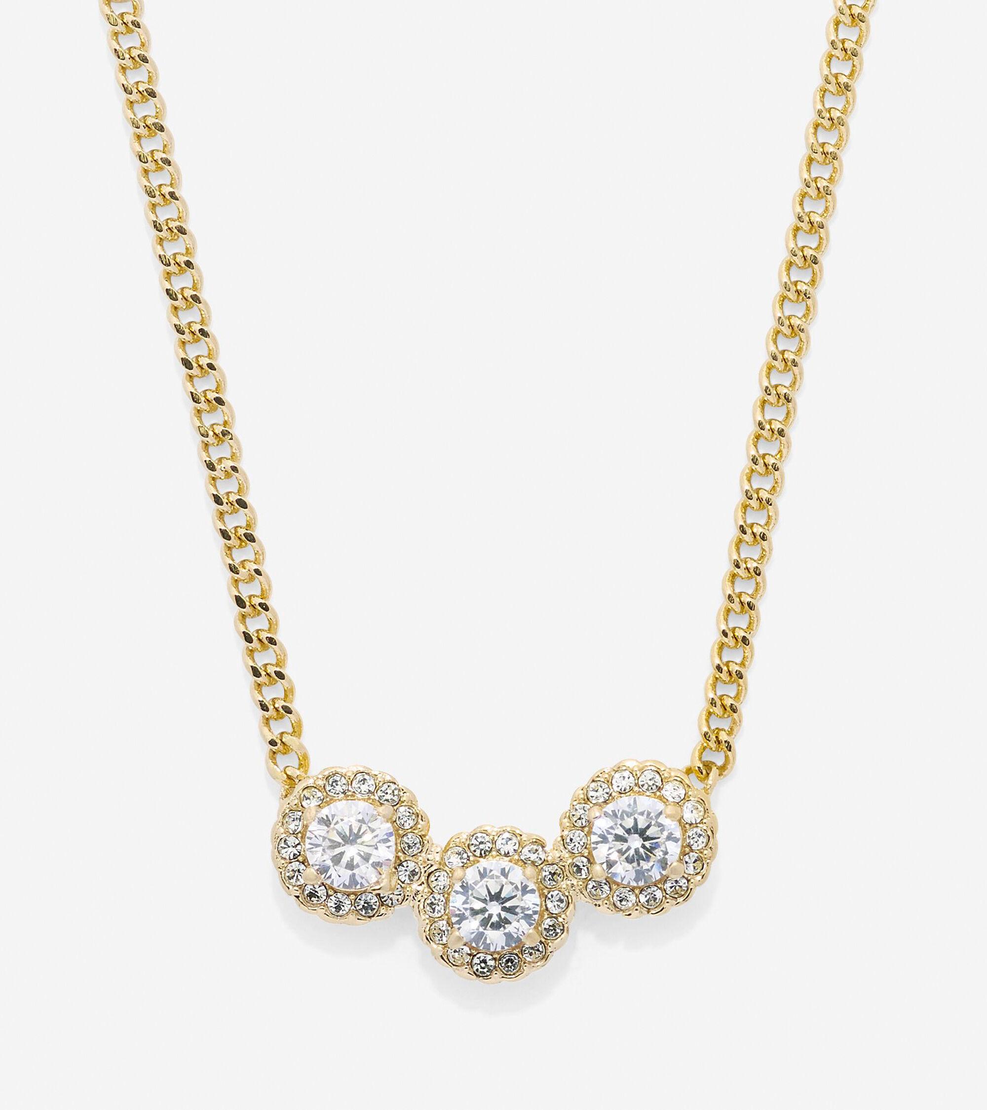 Jewelry > 3 Stone CZ Necklace