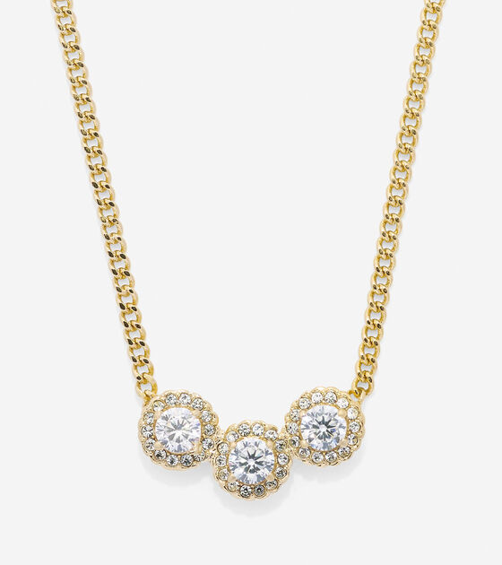 Jewelry > 3 Stone CZ Necklace