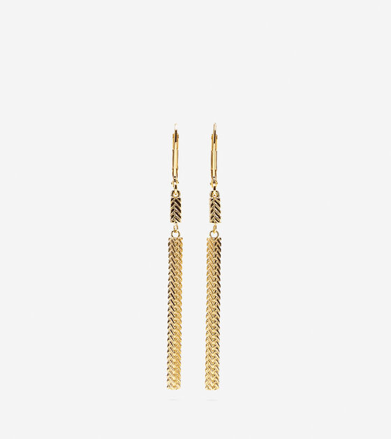 Accessories > Etched Basket Weave Linear Earring