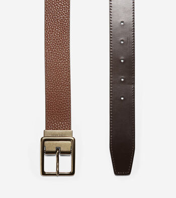 35mm Reversible Pebble/Smooth Leather Belt