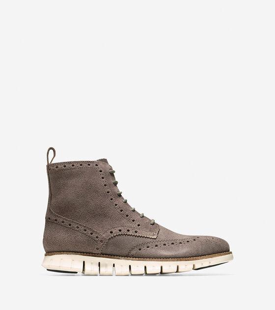 Shoes > ZERØGRAND Water Resistant Wingtip Boot