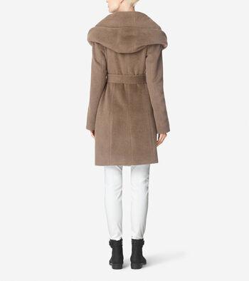 Suri Alpaca Belted Coat