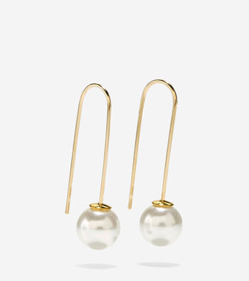 Set the Ball in Motion Glass Pearl Earrings