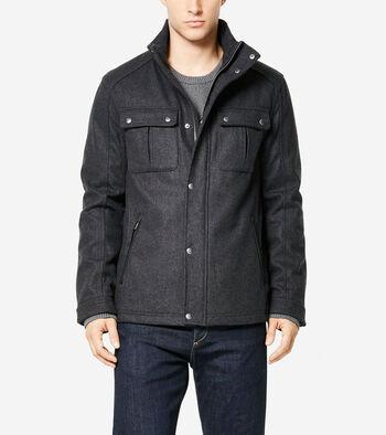 Signature Wool Melton Trucker Jacket