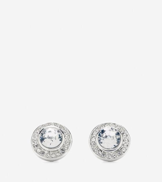 Accessories > Halo Swarovski Stud Earring