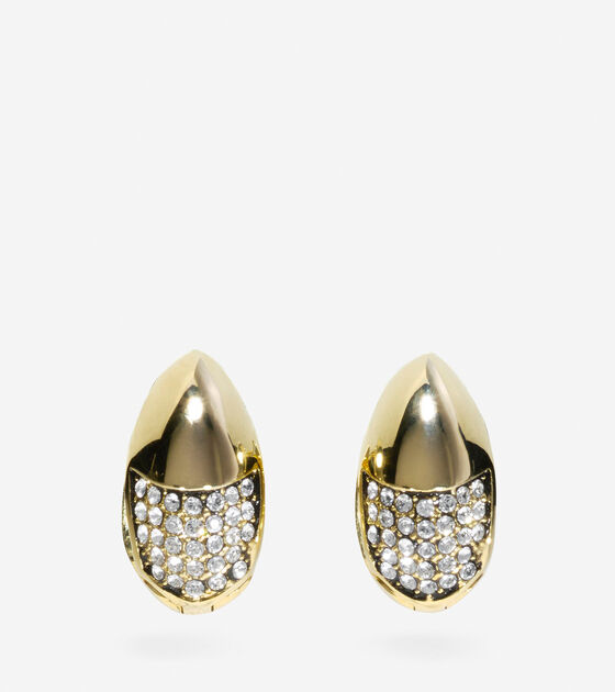 Jewelry > Waters Edge Swarovski Half Pave Teardrop Huggie Earrings