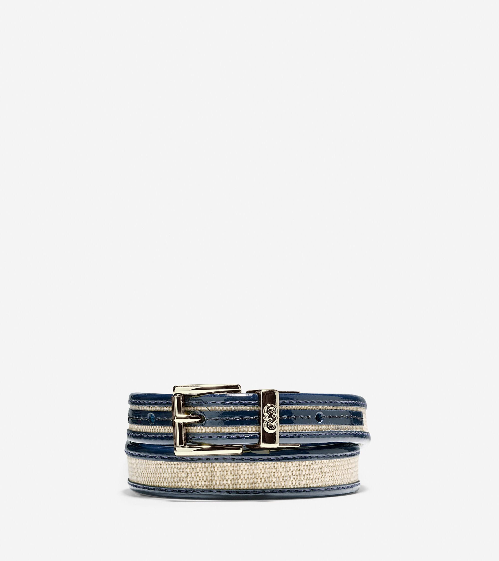 Accessories > Canvas-Leather Trim Belt