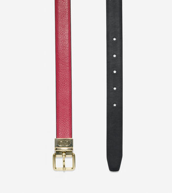 Reversible Pebble/Smooth Leather Belt