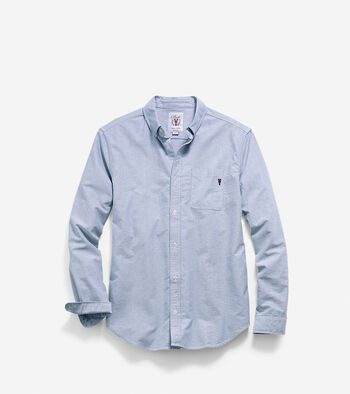 Men's Pinch Long Sleeve Oxford Pocket Shirt