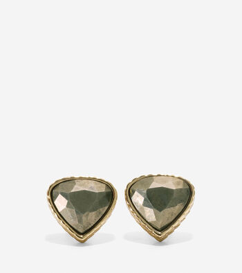 All A Fray Semi-Precious Pyrite Stud Earring