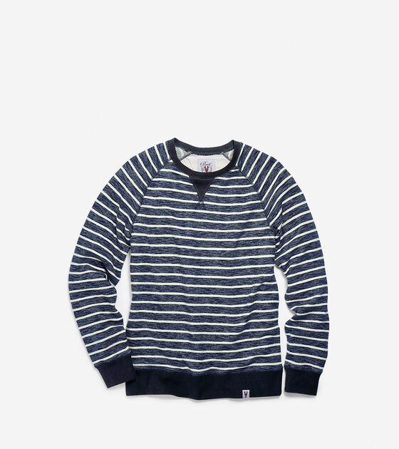 Apparel > Men's Pinch Crew Neck Stripe Long Sleeve Shirt