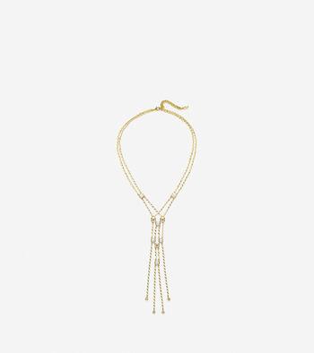 Tali L'Heure Bleue Semi-Precious Multi Stone Double Y Necklace