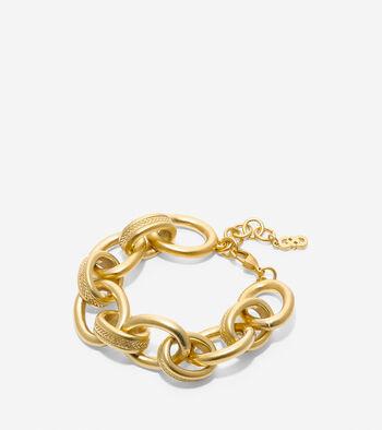 Tali Basket Weave Oval Link Line Bracelet