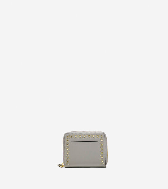Bags & Outerwear > Marli Studded Small Zip Wallet