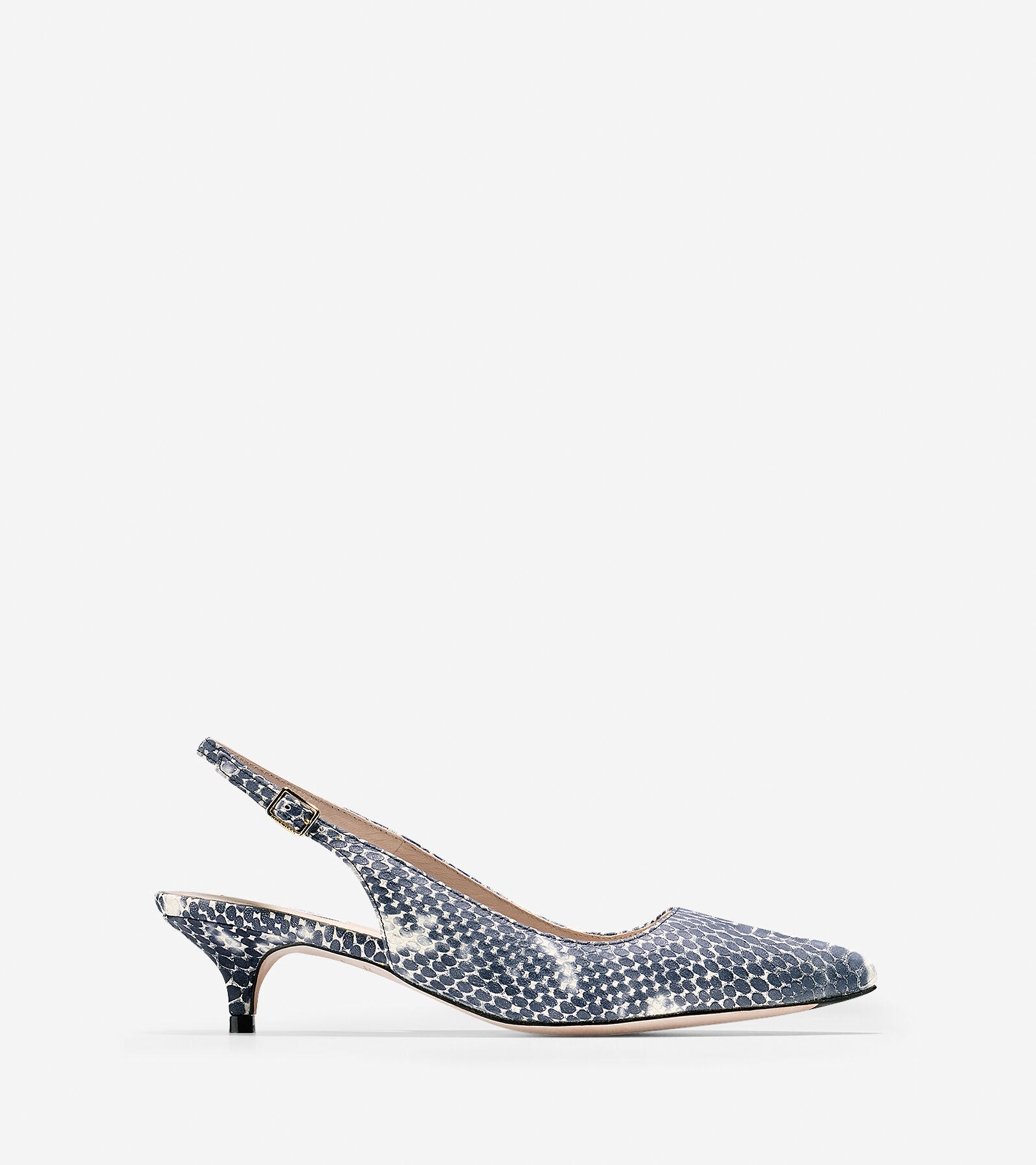 Womens Shoes Cole Haan Bradshaw Sling 40 Black/White Snake Print
