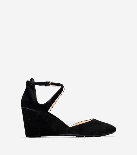 Ballet Flats & Wedges > Lacey Ankle Strap Wedge (75mm)