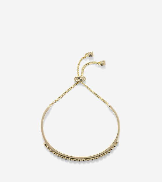 To The Moon Pave Bar Pull Tie Bracelet
