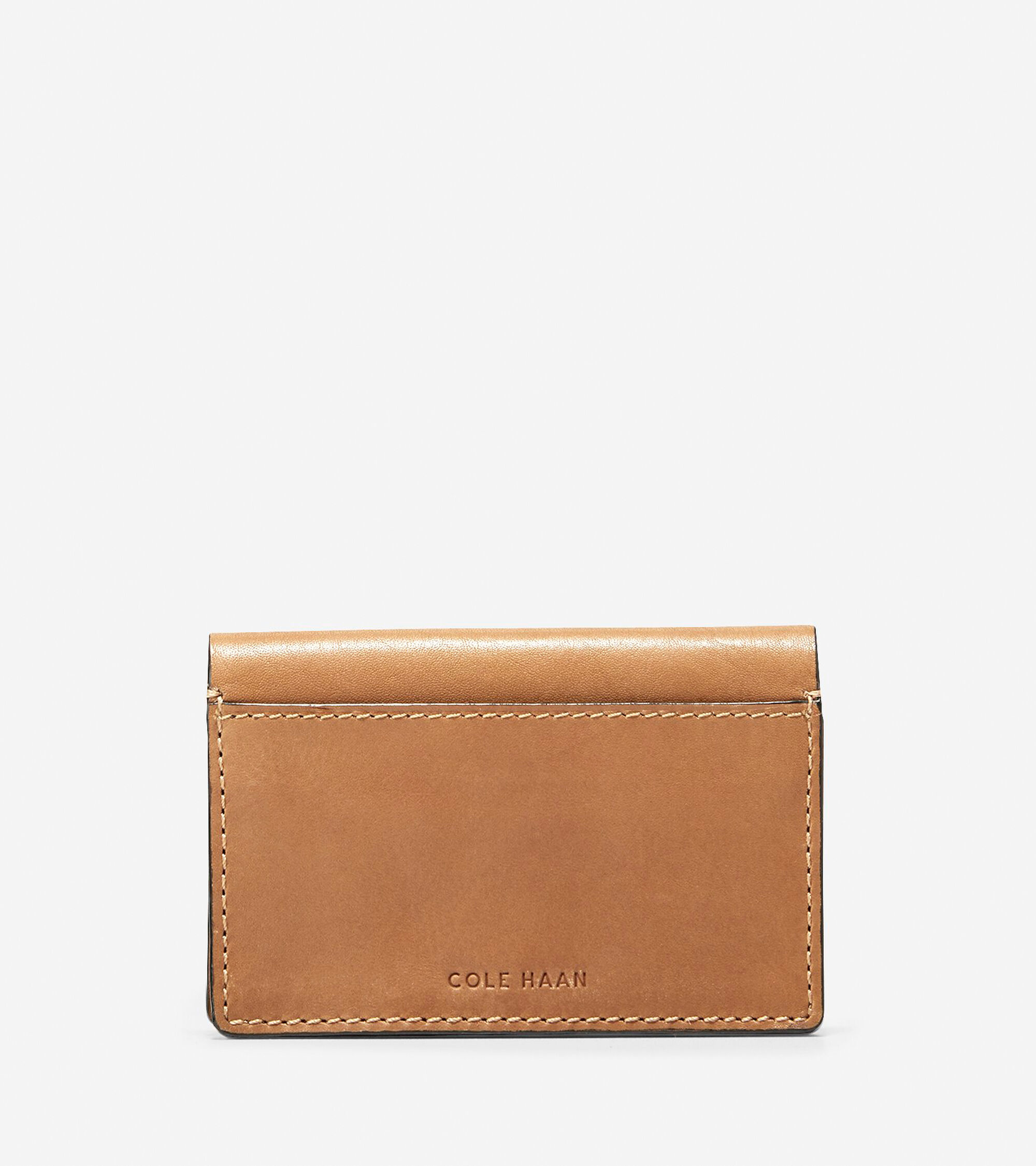 Men\'s Washington Grand Business Card Case in Luggage Leather | Cole Haan