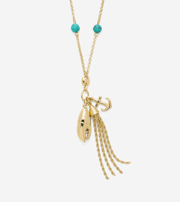 By The Sea Semi-Precious Beaded Lobster Necklace