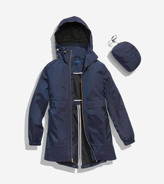 Sporty Packable Rain Jacket
