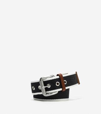 38mm Webbing Leather Belt
