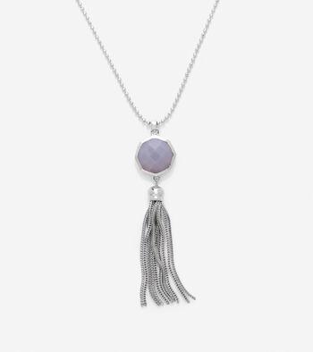 Semi-Precious Bead & Tassel Necklace