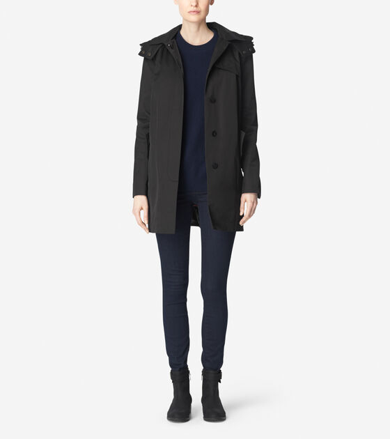 Outerwear > Single Breasted Rain Jacket