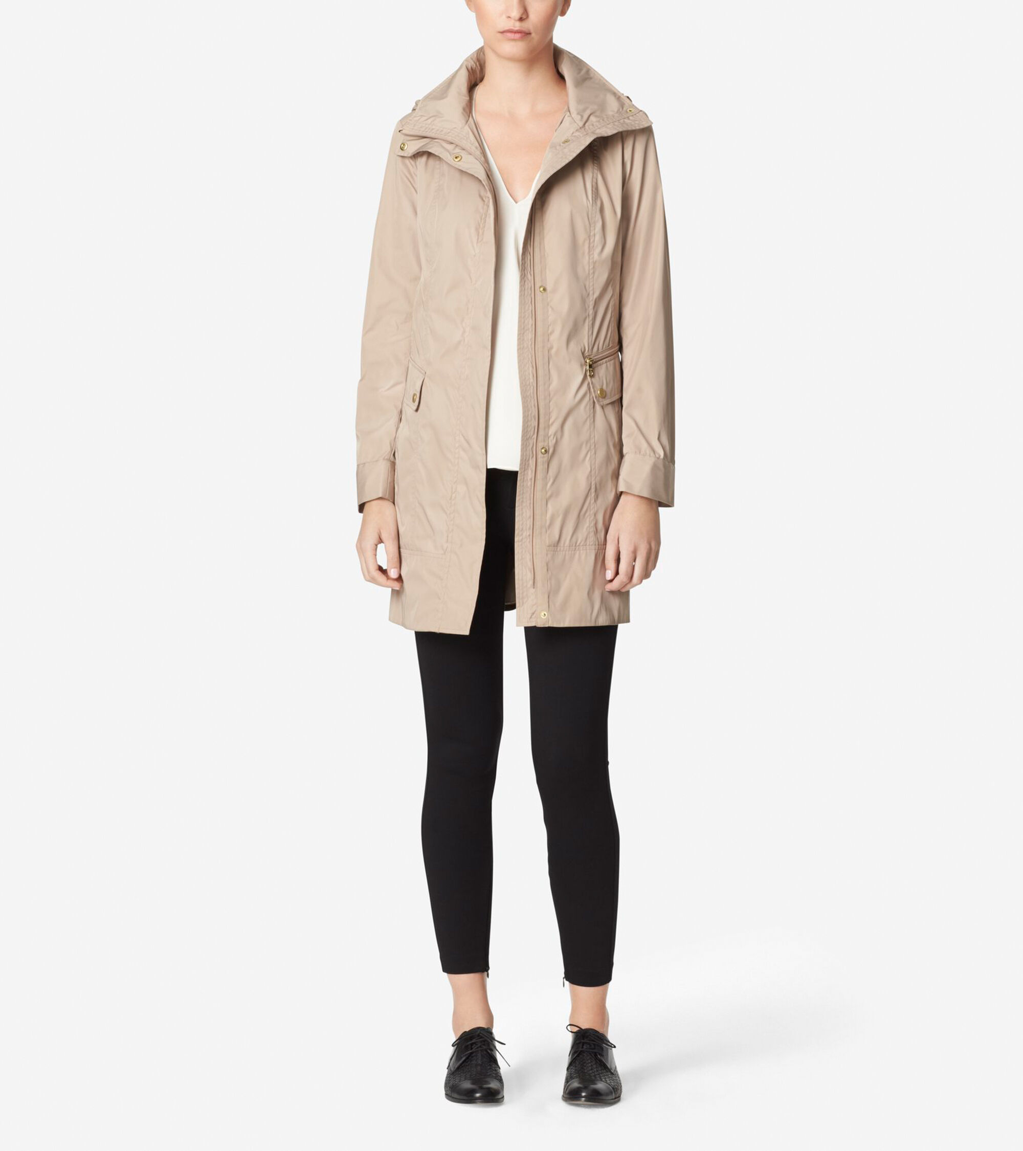 Outerwear > Double Faced Travel Packable Rain Jacket