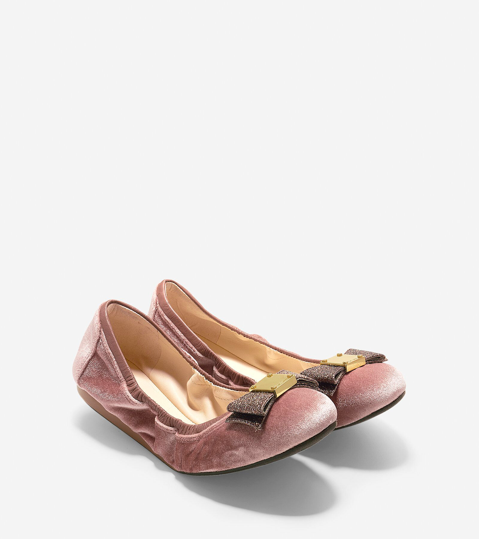 Cole Haan Women's Tali Velvet Bow Ballet Flats IaTxbK4Bx