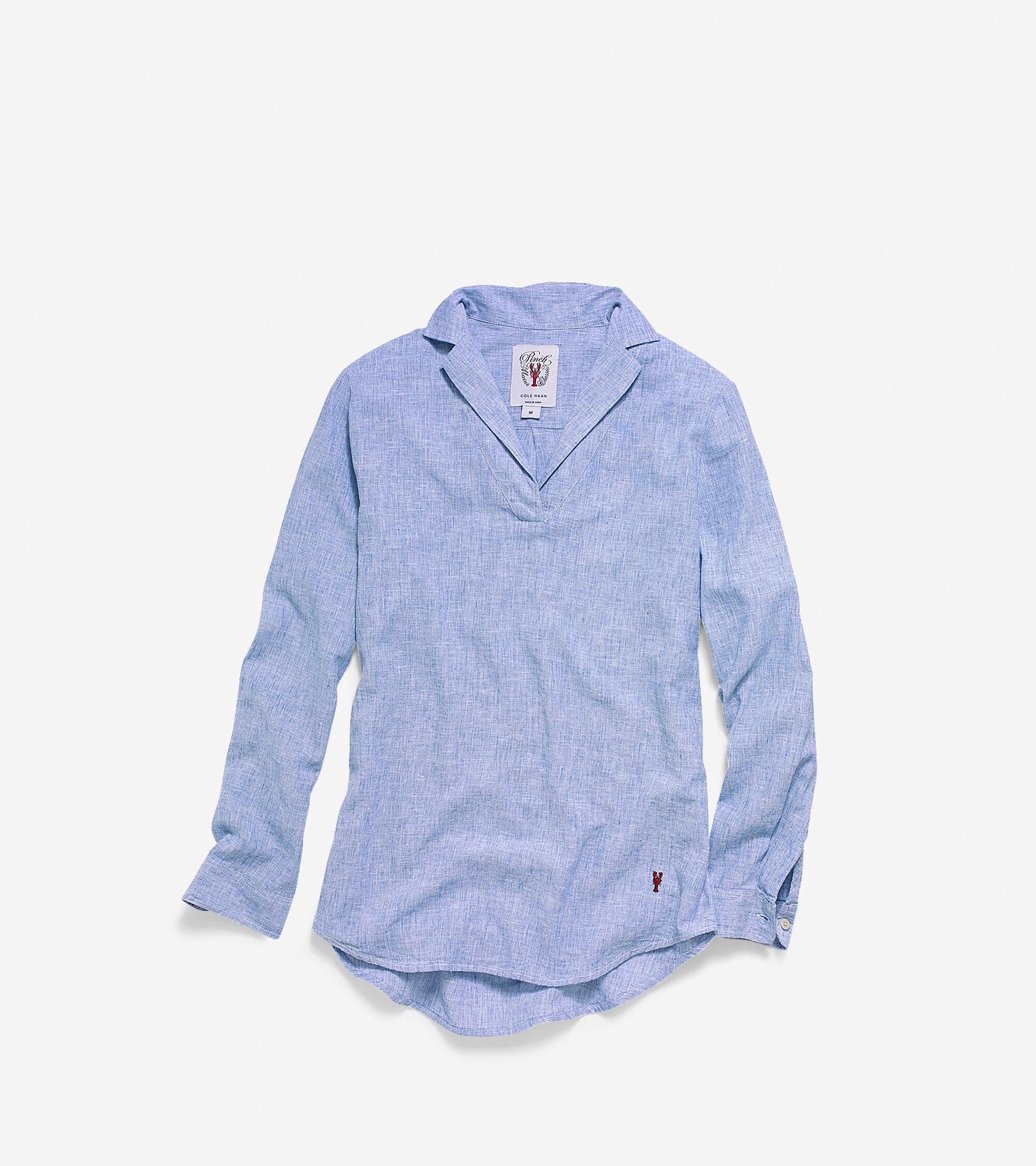 Apparel > Women's Pinch Long Sleeve Woven Popover Shirt
