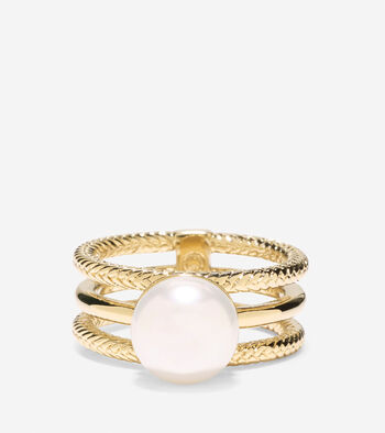 Tali Pearl 3 Row Fresh Water Pearl Ring