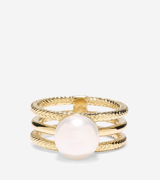 Tali Pearl 3 Row Fresh Water Pearl Ring