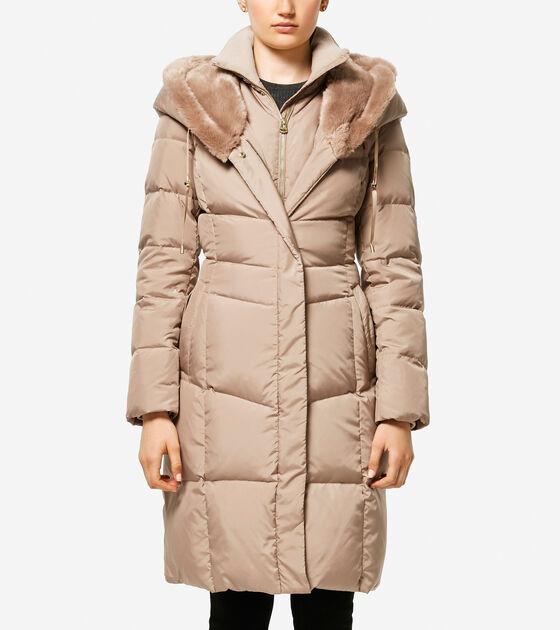 Classics > Essential Down Faux Fur Hooded Coat