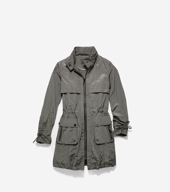 Outerwear > Metallic Packable Anorak