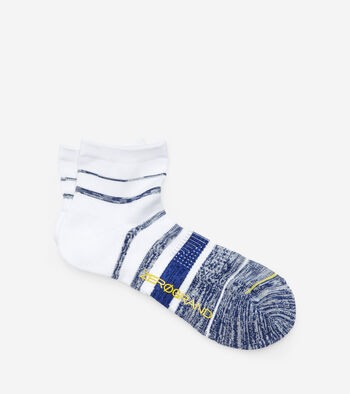 ZERØGRAND Melange Stripe Low Cut Socks