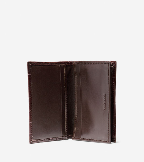 Embossed Croc Gusseted Card Case