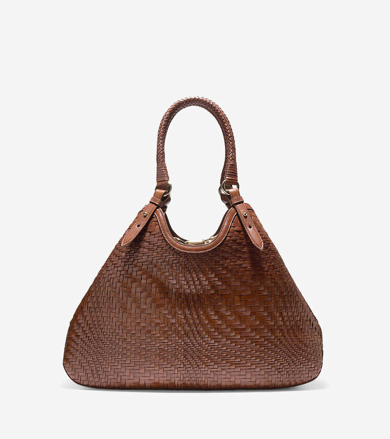 Handbags > Genevieve Weave Large Triangle Tote