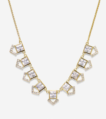 Love Triangle CZ Necklace