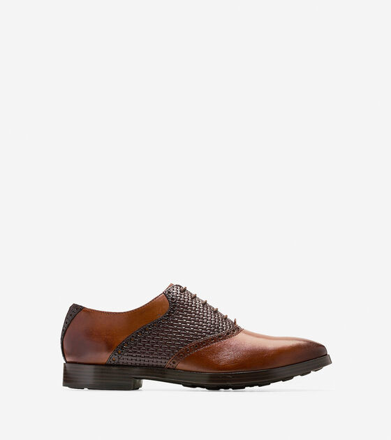 Shoes > Jefferson Grand Woven Saddle Oxford