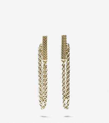 Metropolitan Club Bar-and-Chain Drop Earrings
