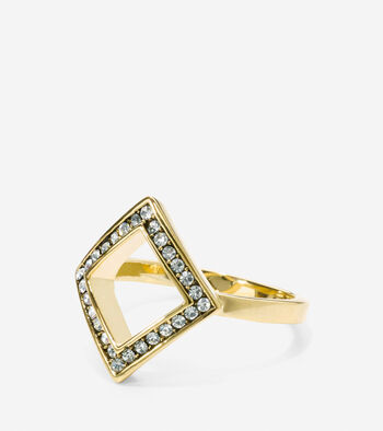 Shimmer On The Horizon Swarovski Crystal Open Diamond Ring