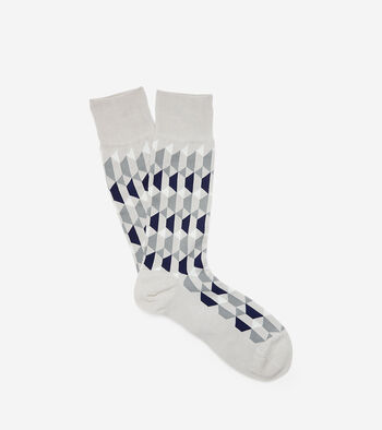 Geo Graphic Neat Crew Socks