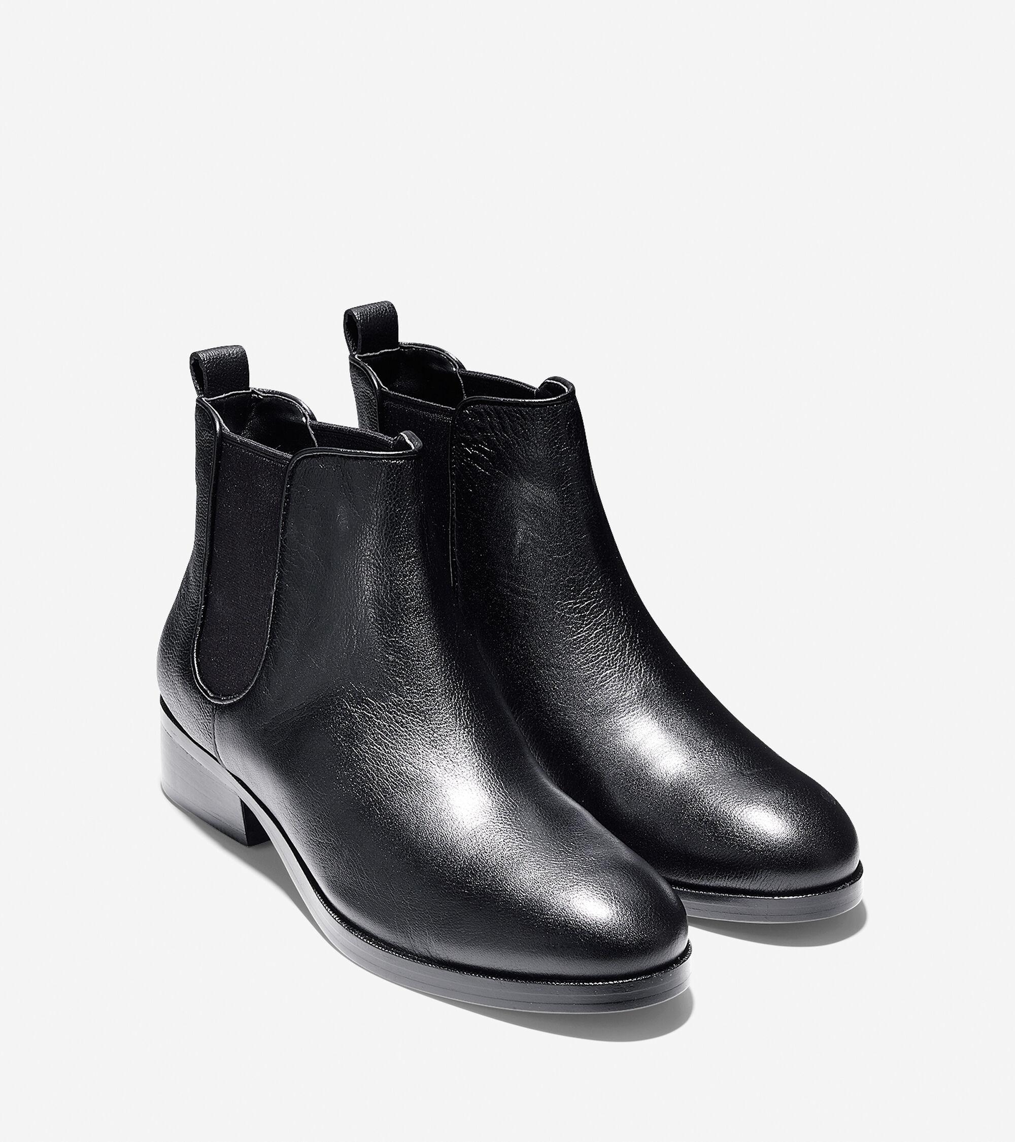 Cole haan black leather gloves -  Colehaan