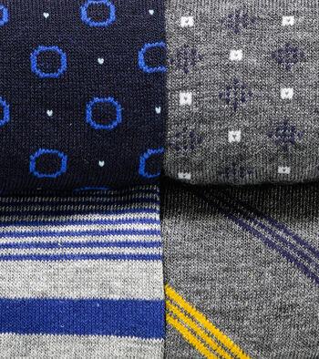 Dress Socks Gift Box - 4 Pack